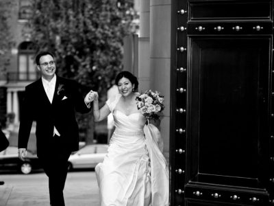 Bride and Groom Enters Their Washington DC Reception. Howerton+Wooten Events.