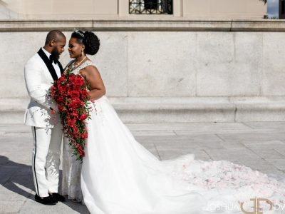 African American Couple at St. Regis Washington DC. Howerton+Wooten Events.