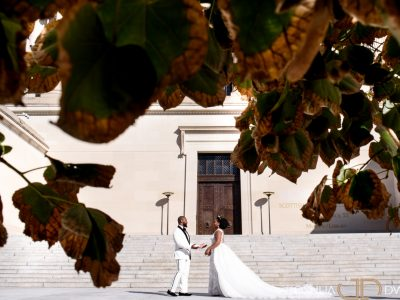 Bride and Groom in Washington DC. Howerton+Wooten Events.