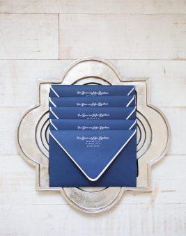 Blue Wedding Invitation Envelopes. Howerton+Wooten Events