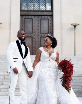 Bride and Groom St. Regis DC Wedding. Howerton+Wooten Events.
