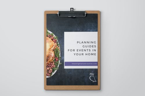 Planning Guides for Events at Home