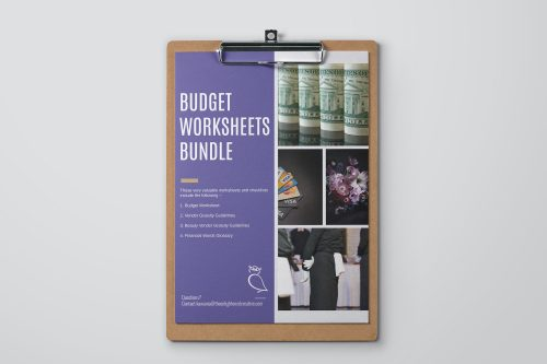 Budget Worksheets Bundle for Wedding Planning.