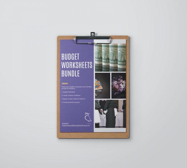 Budget Worksheets Bundle for Wedding Planning.