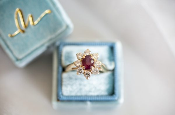 Ruby Engagement Ring. Howerton+Wooten Events.