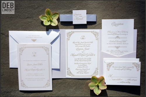 Letterpress Invitation Suite. Howerton+Wooten Events.