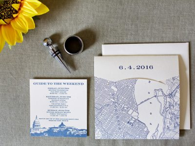 Washington DC Wedding Invitation. Howerton+Wooten Events.