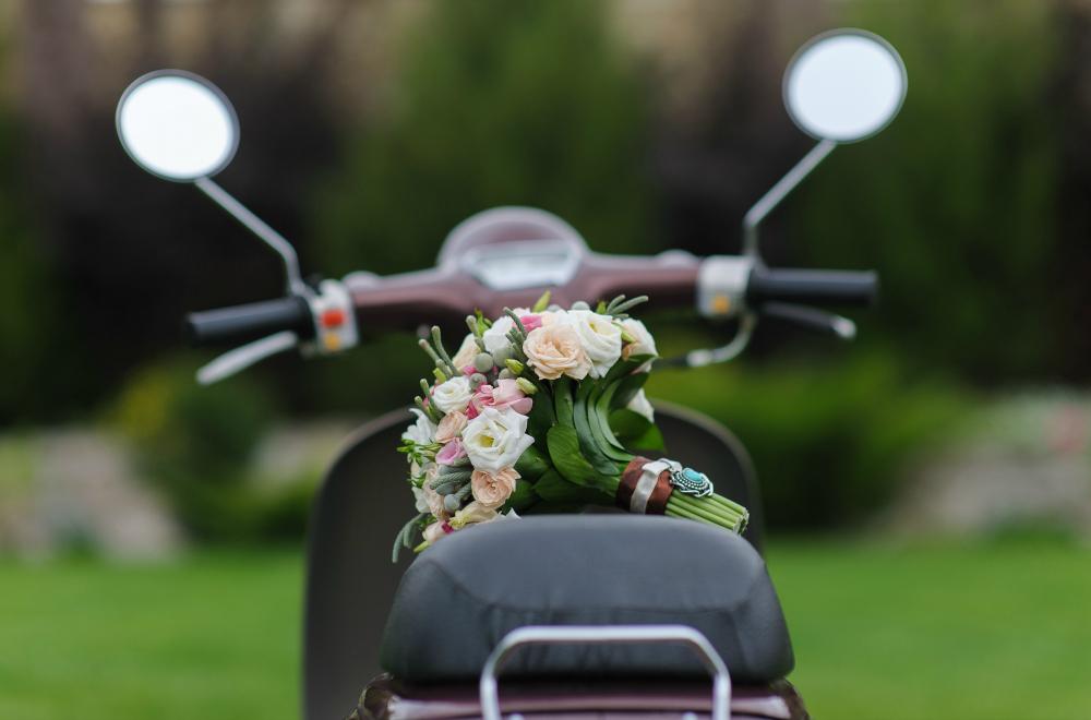 Wedding Motorcycle. Howerton+Wooten Events.