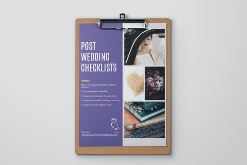 Post Wedding Day Checklists Bundle. The Enlightened Creative
