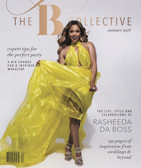 B Collective Magazine, Summer 2018 Cover. Howerton+Wooten Events.