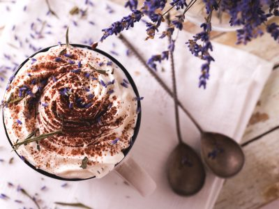 Lavender Hot Chocolate Cocoa. Howerton+Wooten Events.