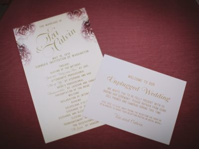 Watercolor Wedding Program. Howerton+Wooten Events.