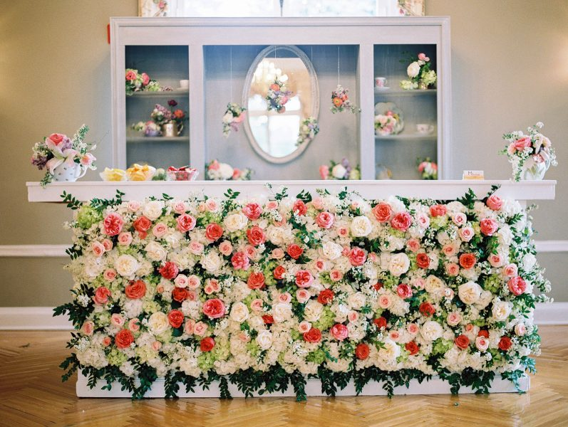 Flower Bar. Oxon Hill Manor. Howerton+Wooten Events.