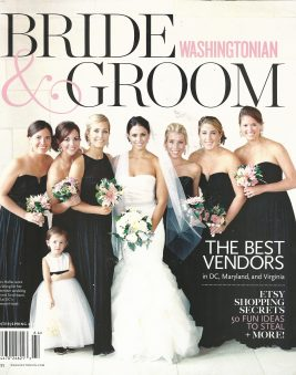 WASHINGTONIAN Bride and Groom Cover. Winter 2016. Howerton+Wooten Events.