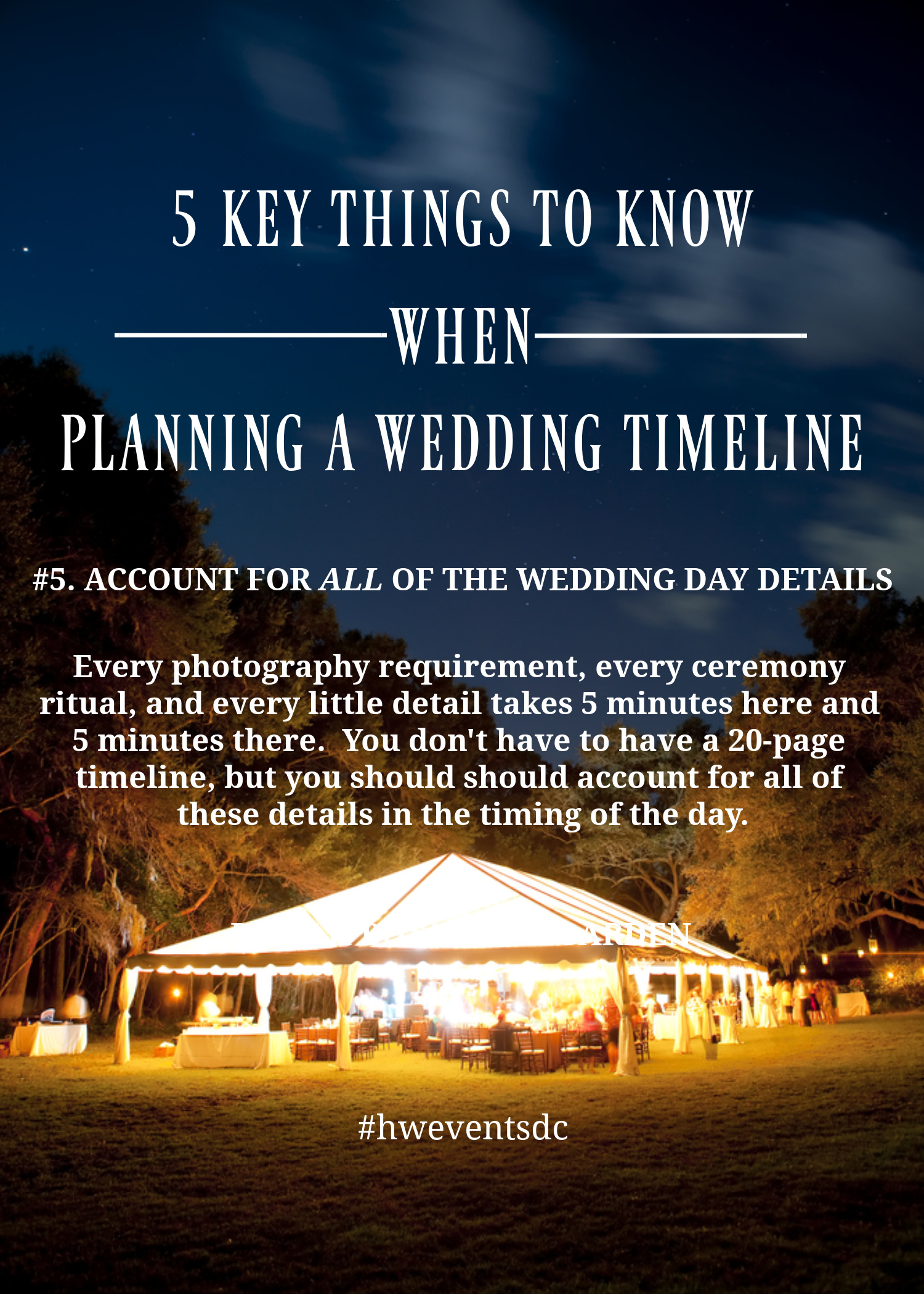 Account For All Of Your Wedding Day Details No Matter How Small They Are