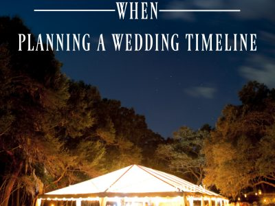 5 Key Things to Know when Planning a Wedding Timeline. Howerton+Wooten Events.