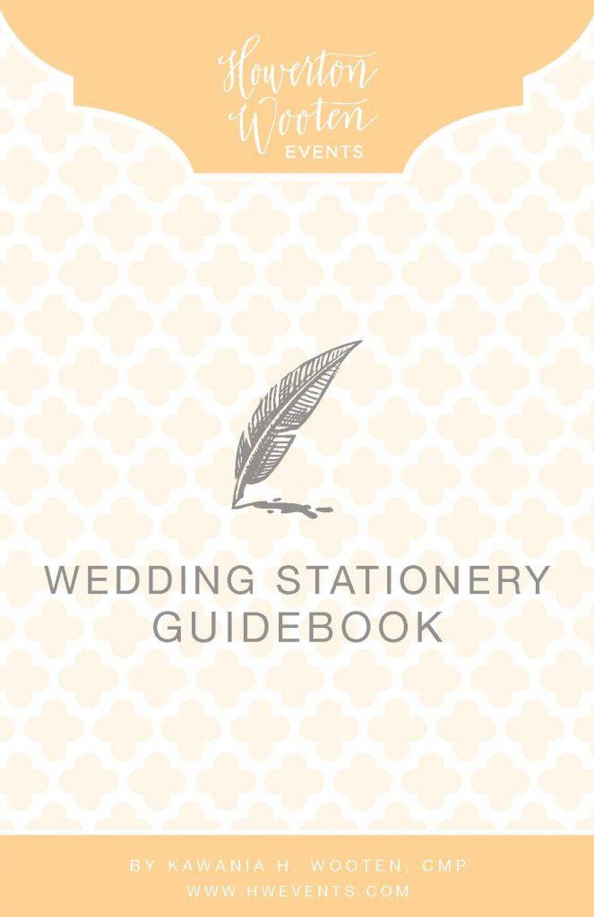 Wedding Stationery Guidebook. Howerton+Wooten Events.