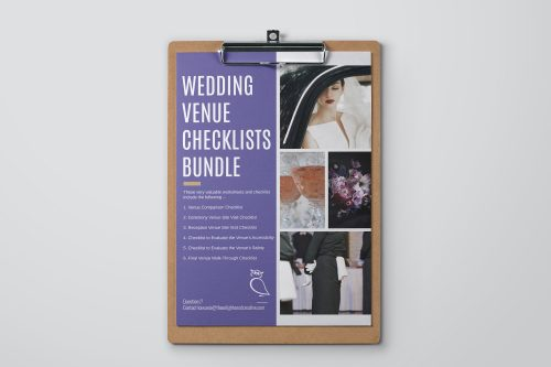 Wedding Venue Checklists Bundle. The Enlightened Creative