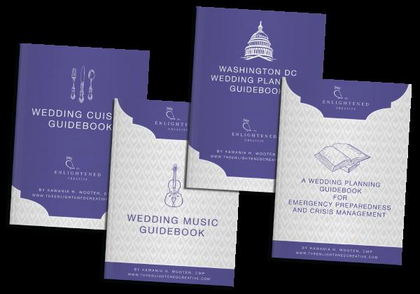 Virtual Box Set of Wedding Planning Guidebooks. The Enlightened Creative