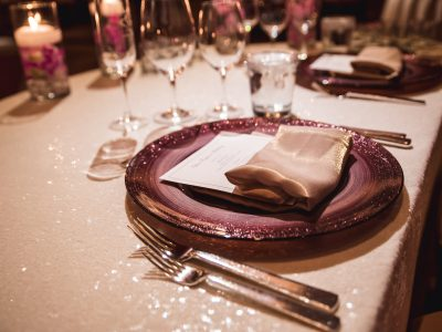 Gold Napkin. Wedding Reception. Howerton+Wooten Events.