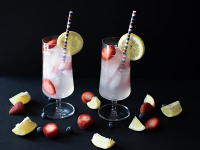 Skinny Strawberry Lemonade Cocktail. Howerton+Wooten Events.
