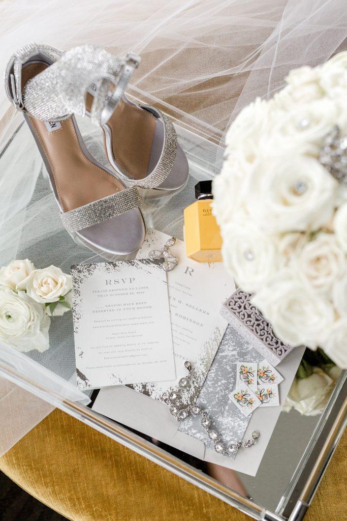 Grey Wedding Ring Box for Engagement Ring