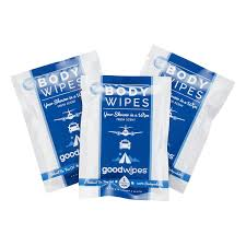 Good Wipes Body Wipes for Long Flights. Howerton+Wooten Events.
