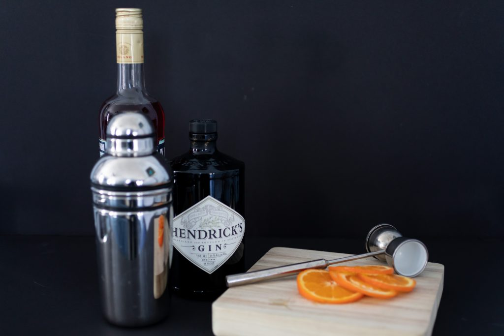 Hendricks Gin Negroni Ingredients. Howerton+Wooten Events.