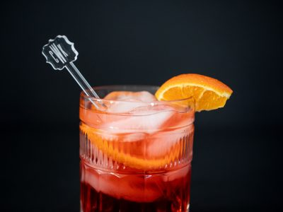 Negroni Cocktail with Hendricks Gin. Howerton+Wooten Events.