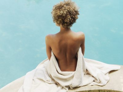 Woman at the Spa Relaxing. Howerton+Wooten Events.